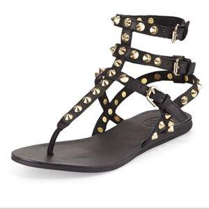 "1a2c5c9ec Ash ""OASIS"" Studded Gladiator Thong Sandals"